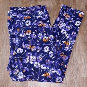 LuLaRoe TC2 purple leggings EUC